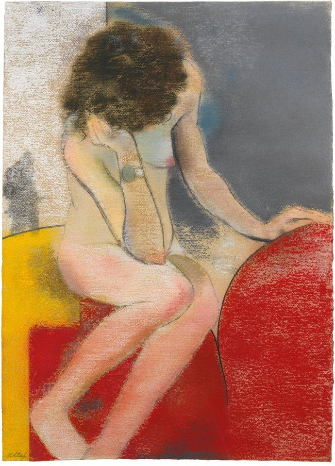 R.B. Kitaj (1932-2007) Waiting, 1975
