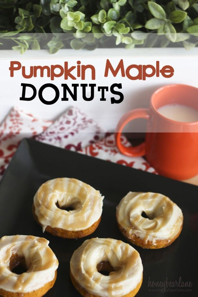 Pumpkin Maple Donuts recipe - of all the desserts I've made, this is one of my favorites! It really is the epitome of Fall food! SO yummy!