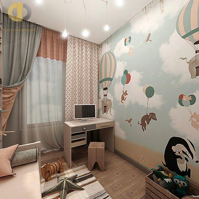 Дизайн детской комнаты с фотообоями для девочки и мальчика