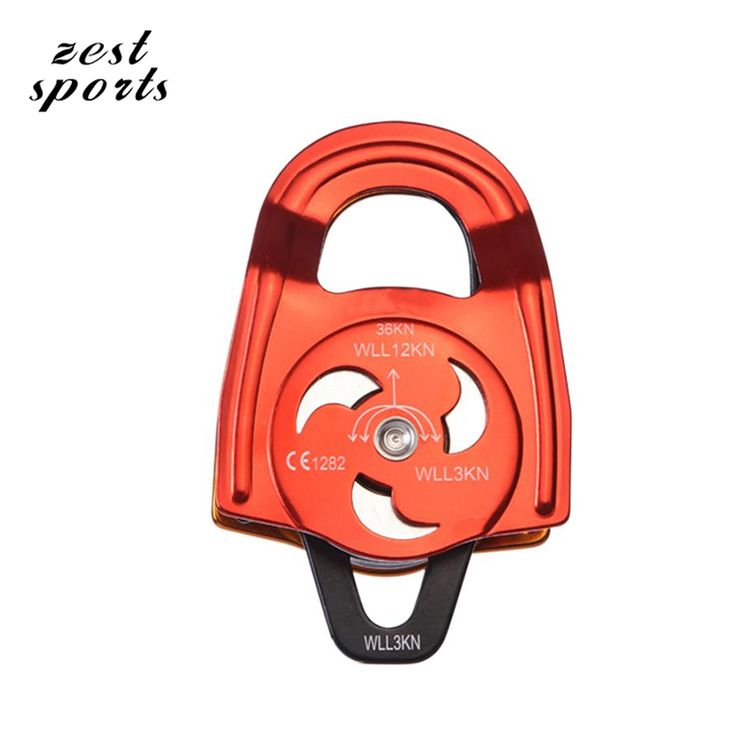 High-quality double pulley climbing and rescue pulley36KN outdoor sports rock climbing equipment