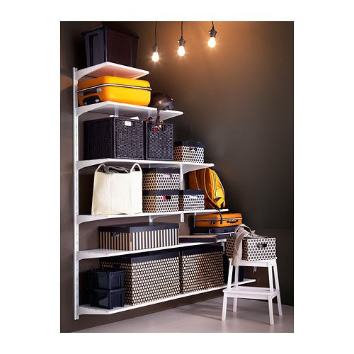 ALGOT Wall upright/shelves IKEA The parts in the ALGOT series can be combined in many different ways and easily adapted to your needs and sp...