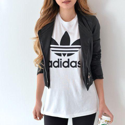 Adidas BF Fit White Trefoil Tee