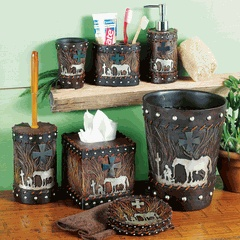 17 best images about kneeling cowboy on pinterest for Country living bathroom accessories