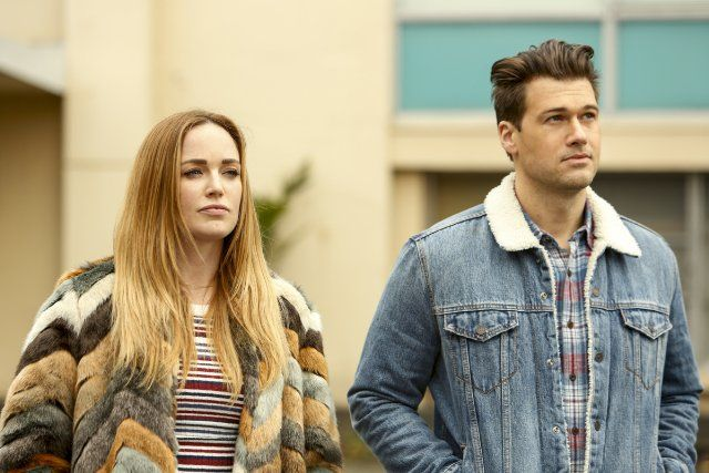 Nick Zano and Caity Lotz in Legends of Tomorrow (2016)