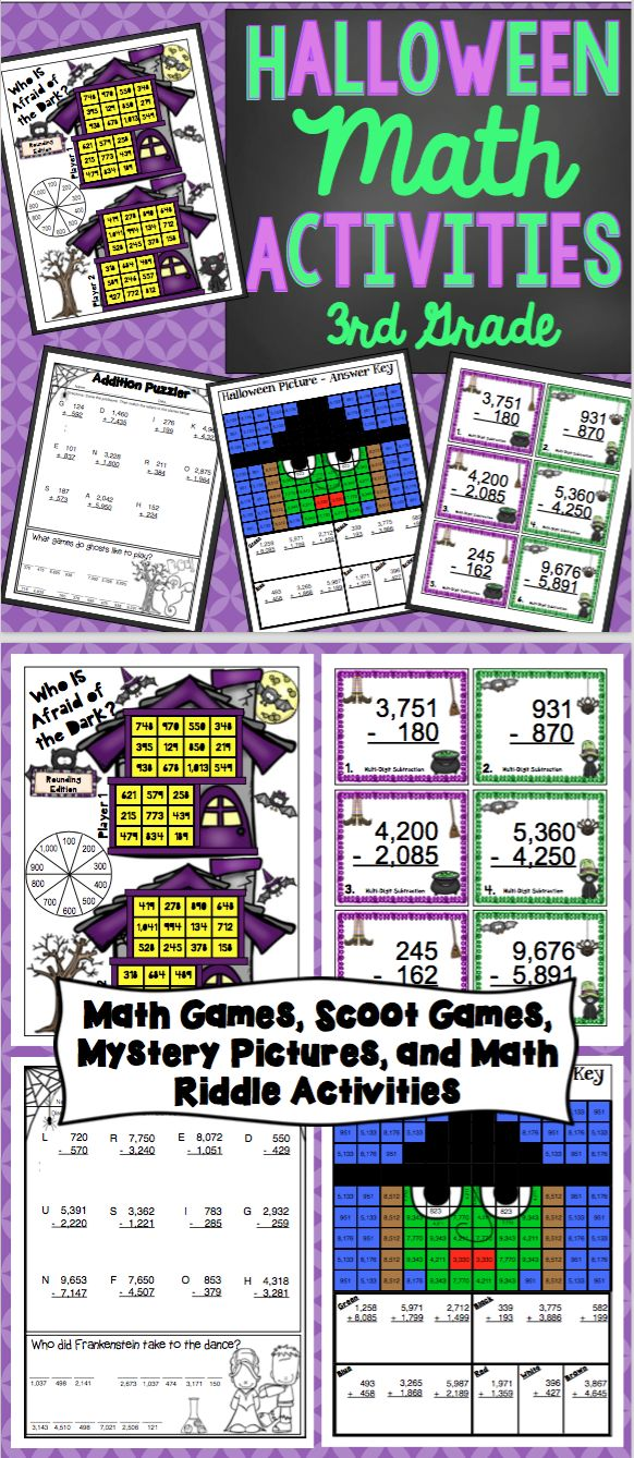 halloween math 3rd grade - Online Halloween Math Games