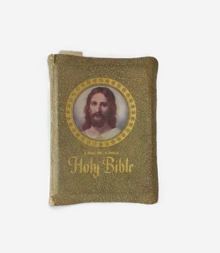 1961 King of Kings Holy Bible, Clarified Edition King James Illustrated, Vintage Christian Family Bible, Green Leather Cover, Religious Book by MomsantiquesNthings on Etsy