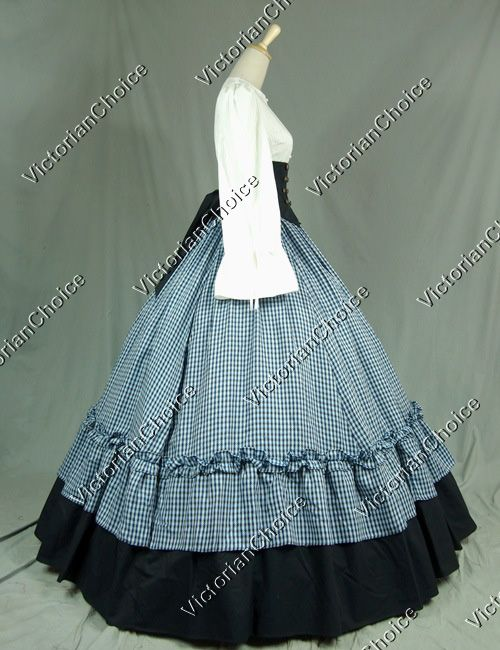 civil war dress patterns | Civil War Victorian Viscose Cotton Ball Gown Dress Reenactment ...