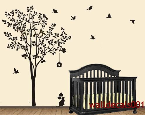 vinyl wall decal wall sticker tree decals murals by walldecals001 - Wall Sticker Design Ideas