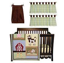 Baby Crib Set, 6 pc. - Baby Barnyard