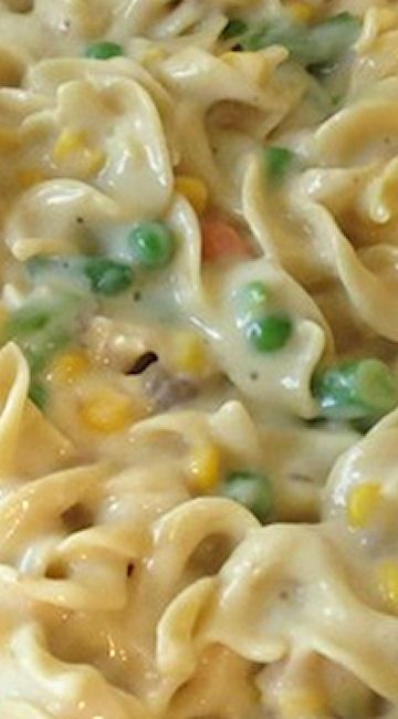 Chicken Noodle Casserole Maybe add cheese and ritz cracker or french fried onion topping