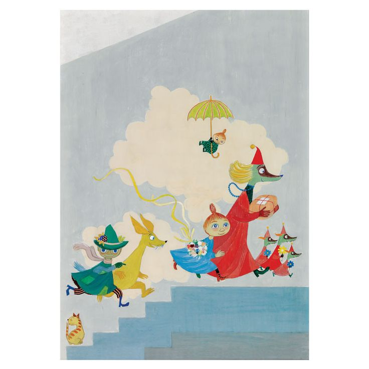Moomin poster - The Aurora Hospital mural - The Official Moomin Shop  - 2