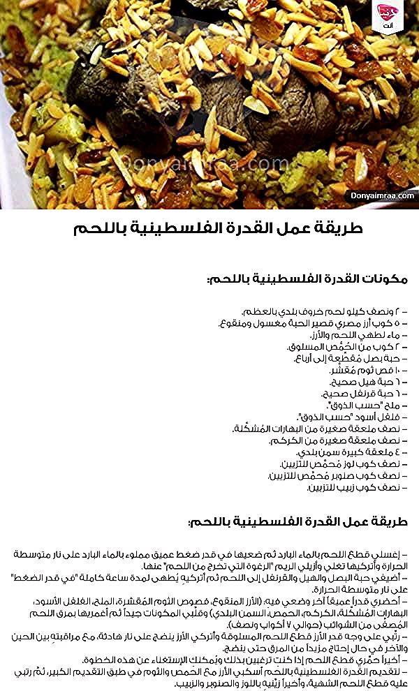 طريقة عمل القدرة الفلسطينية اللحم أكلات أكلة أكلات فلسطينية دنيا امرأة كويت كويتيات كويتي دبي الامارات السعودية قطر Kuwait Doh Herbs Beef Food