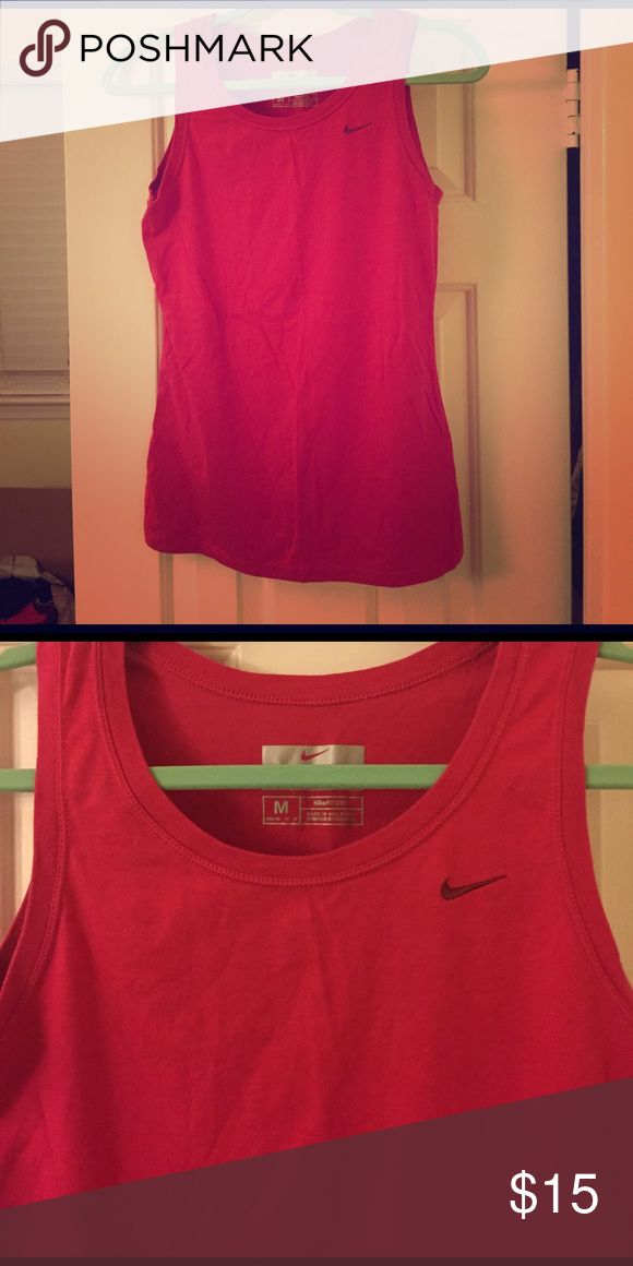 Pink Nike tank top Pink Nike athletic tank top. Very negotiable on price, make me an offer and I can even lower it so you can get discounted shipping :) Nike Tops Tank Tops