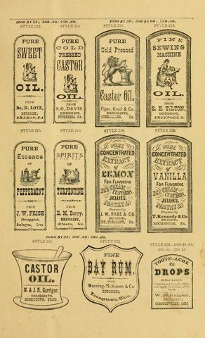 King George - more apothecary labels