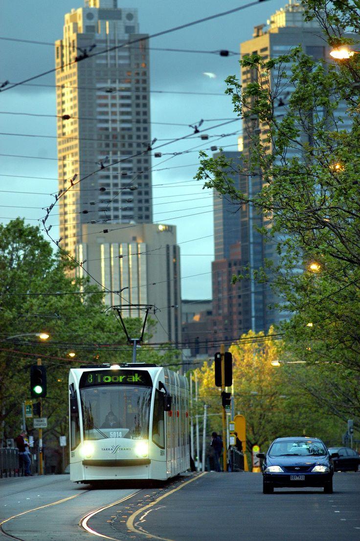 A Melbourne Yarra tram.