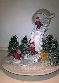 Image result for christmas bulbs floating tea cup