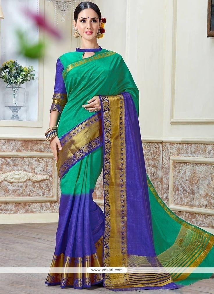 Mesmeric Tussar Silk Blue Traditional  Saree Model: YOSAR8407