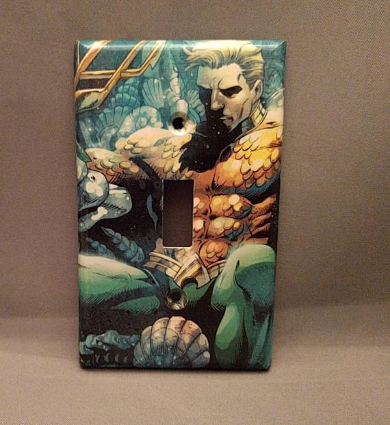 Aquaman comic book light switch cover