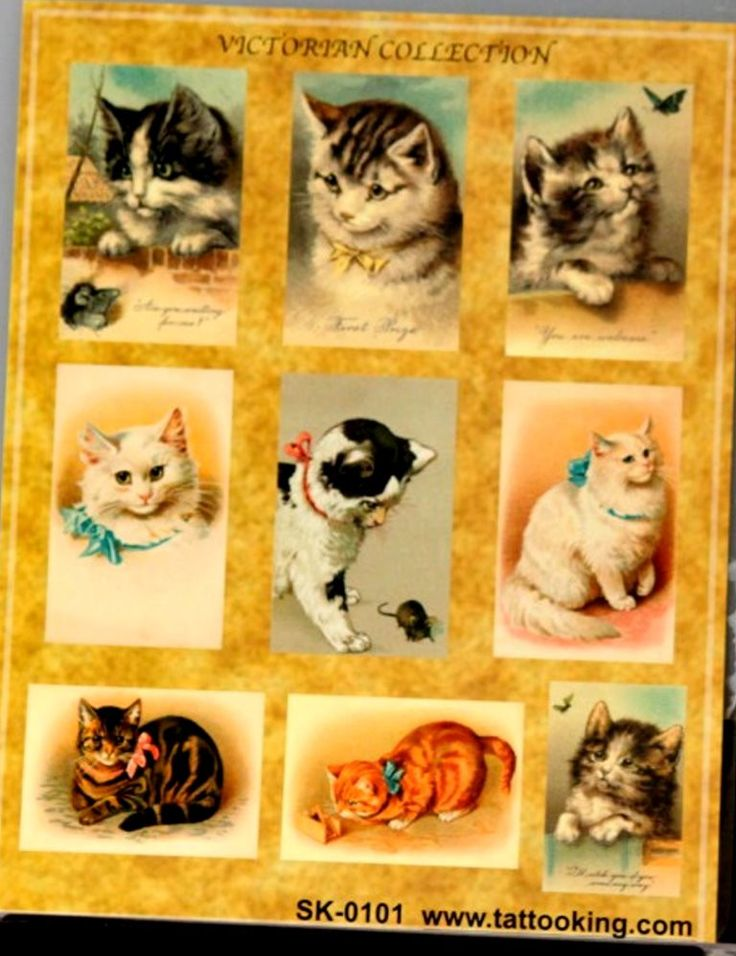 Stickerking Victorian Cats Collection Scrapbook Stickers