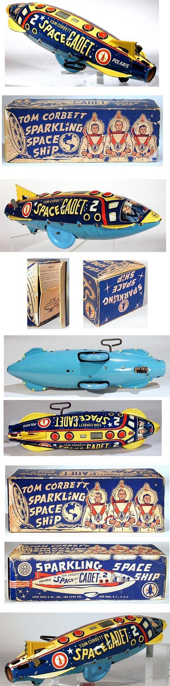 1952 Marx, Tom Corbett Polaris Space Ship in Original Box