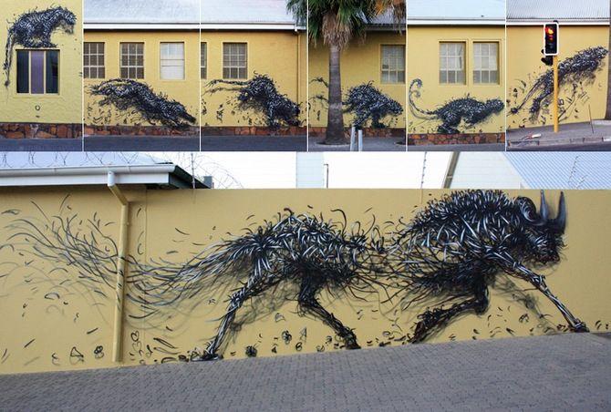 Граффити в Кейптауне китайского стрит-арт художника DALeast - Дизайн интерьеров | Идеи вашего дома | Lodgers