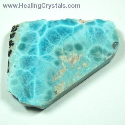 Natural Larimar Stone -- (Dominican Republic)- Larimar - Healing Crystals