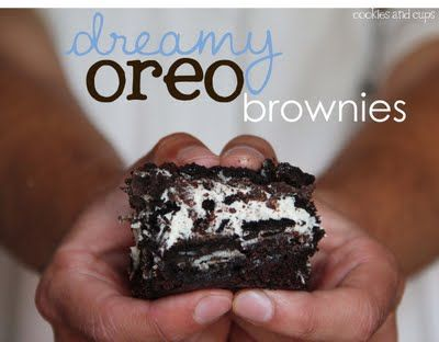 Cookies and Cups Dreamy Oreo Brownies