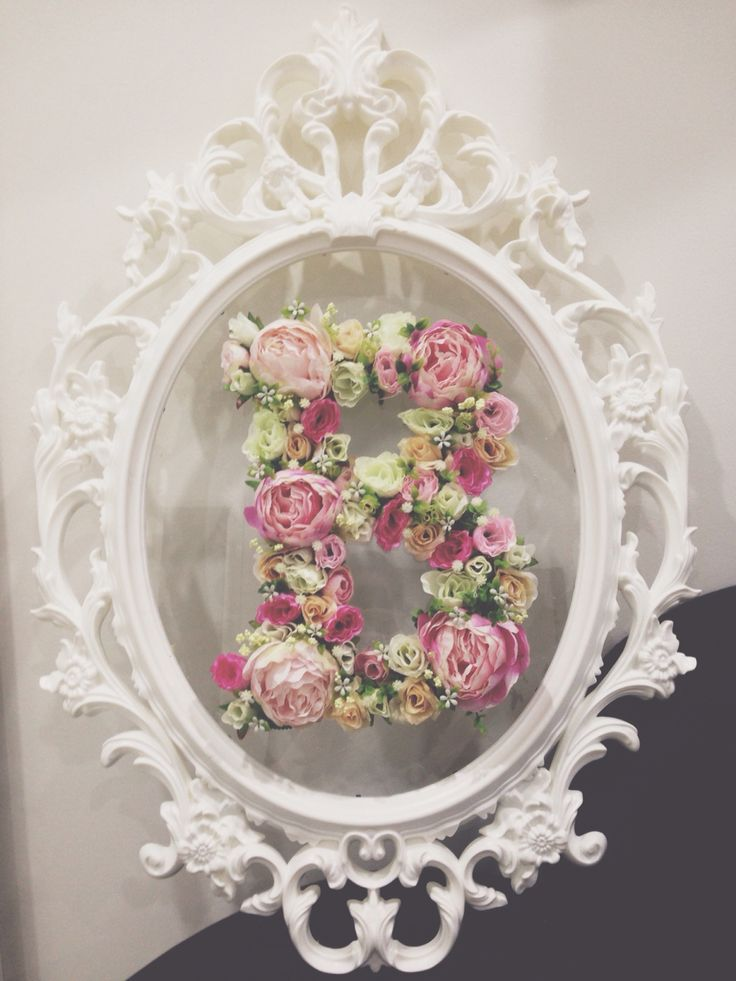 My diy floral letter  #floral #letter #monogram #DIY