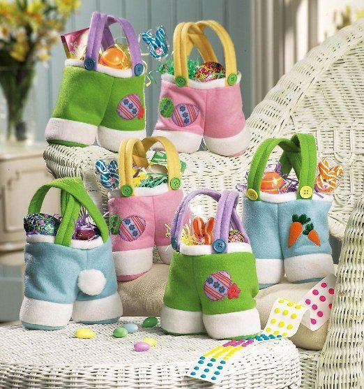 Amazon.com - Easter Bunny Treat Bag Set - Gift Wrap Bags-(You can purchase)