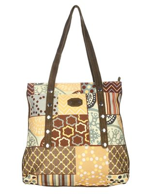 Olive green printed casual handloom,leather shoulder bags women hand bag