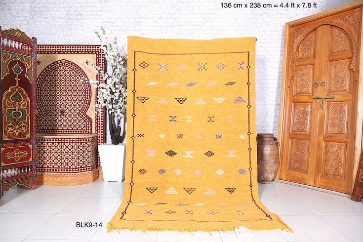 Handwoven kilim back, 4.4ft x 7.8ft