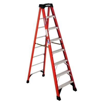 Werner 8 ft. Fiberglass Step Ladder with 300 lb. Load Capacity Type IA Duty Rating-NXT1A08 - The Home Depot