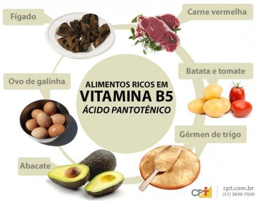 Vitamina B5 - importância, fontes de alimentos, valores nutricionais, carência e excesso