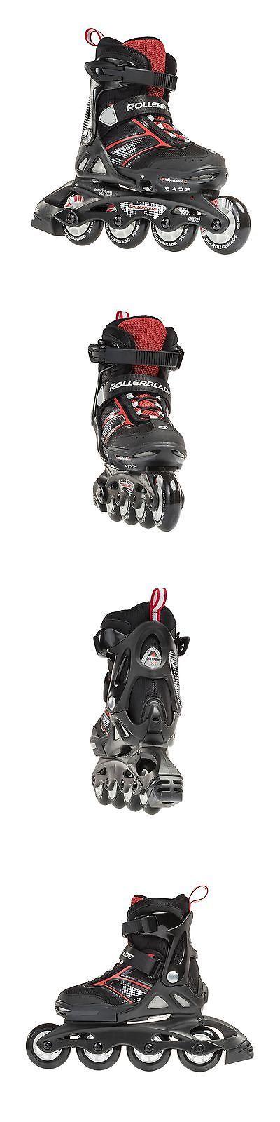 Youth 47345: Rollerblade Spitfire Jr Xt 2016 Kids Skate Black Red Adjustable (5 To 8) -> BUY IT NOW ONLY: $102 on eBay!