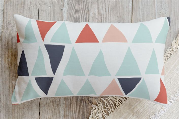 Little pyramids cushions | Stylisti on Minted