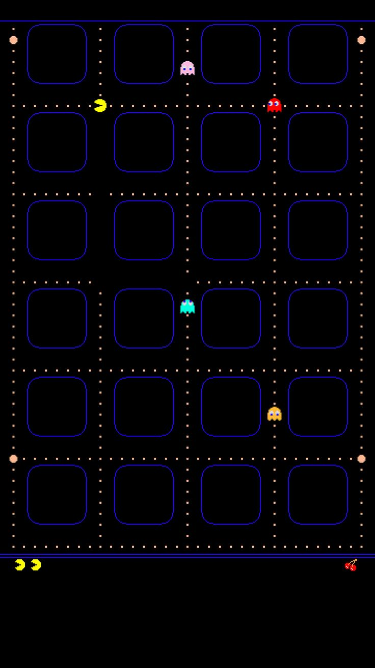 iphone 6 icon wallpaper pacman - Google Search