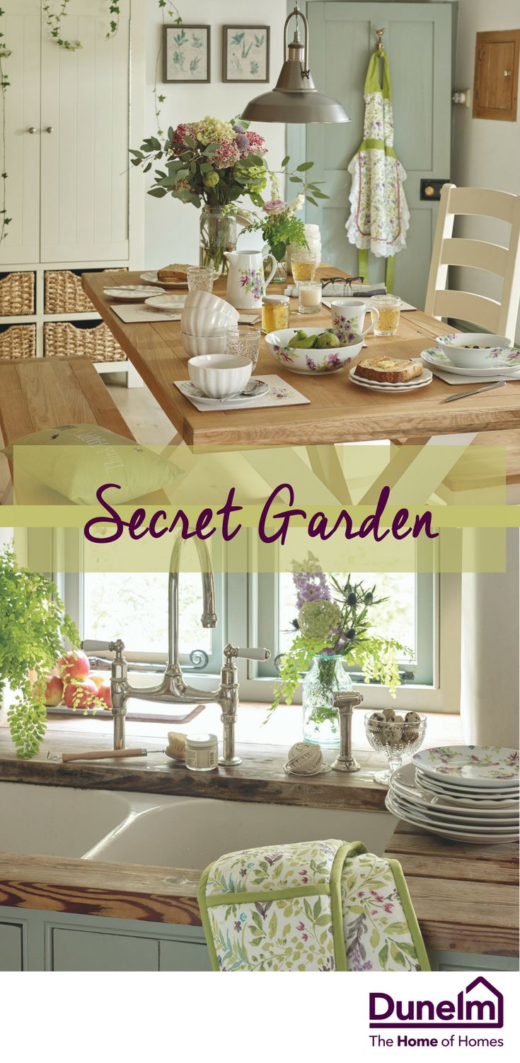 Fresh and delicate, our Secret Garden trend takes a nostalgic cue from verdant English countrysides and meadow gardens in bloom. Crisp botanical greens create a lush backdrop to pretty foliage patterns, and the use of floral watercolour effects and woodland creatures, brings this theme to life. Incorporate this trend within your kitchen and dining areas to add an aura of rustic, countryside-chic this season.
