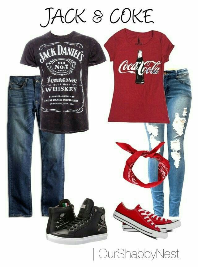 Jack&coke.also a great halloween idea for couples