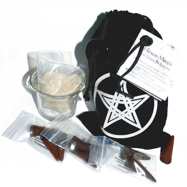 Hexen-Magie mit Räucherkegel und Onyx-Pi-Scheibe - Neuheiten - Cleopatra's Duft-Oase