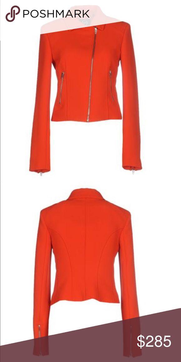 McQ Alexander Mcqueen moto jacket McQ Alexander Mcqueen moto jacket in a vibrant red perfectly paired for spring/summer. McQ Alexander McQueen Jackets & Coats