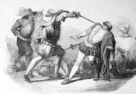 258 – (1541- 26 de Junio) Francisco Pizarro con sus armas en la mano y junto con su hermano Martín de Alcántara y don Gómez de Lucena único comensal que se había quedado junto al conquistador y sus pajes Tordoya y Vargas, enfrentó a los conspiradores.