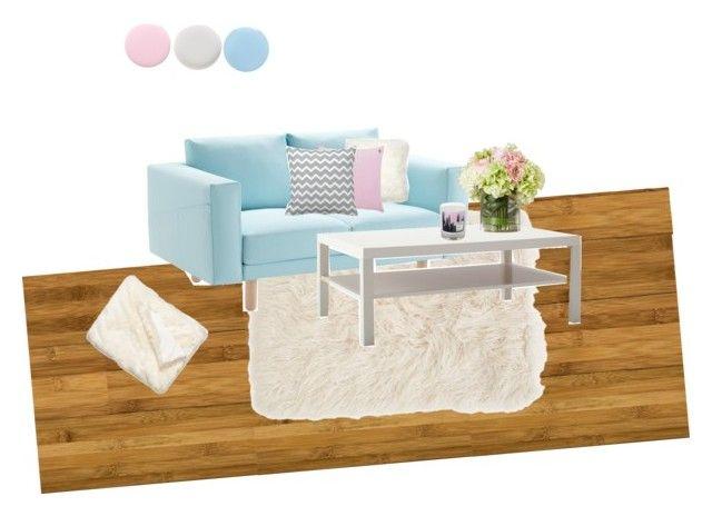 """grey - blue - pink palette"" by katyvalentine on Polyvore featuring interior, interiors, interior design, home, home decor, interior decorating, Nordstrom, Maison La Bougie, Nails Inc. and Deborah Lippmann"