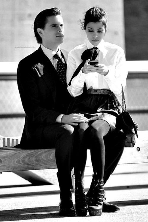 Scott Disick and Kourtney Kardashian in NYC