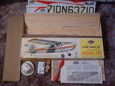 A Junkee Shoppe Junk Market Stop: GUILLOWS Balsa Wood Cessna 170 Model Kit 1960s  ... For Sale Click Link Here To View >>>> http://ajunkeeshoppe.blogspot.com/2015/12/guillows-balsa-wood-cessna-170-model.html