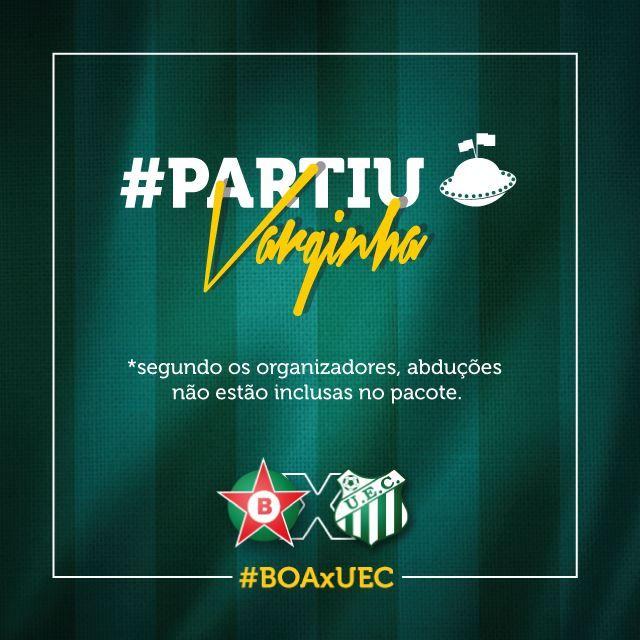 """Peça e texto:""""As torcidas do #Verde estão organizando excursões para apoiar o time lá em Varginha."""""""
