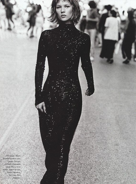 Who's That Girl: Kate Moss Harper's Bazaar (US) September 1994. Photos PETER LINDBERGH-2