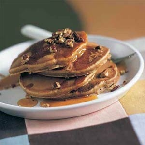 Sweet Potato-Pecan Pancakes- These pancakes go best with our Vanilla ...