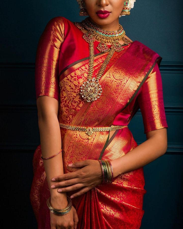 Lovely red saree