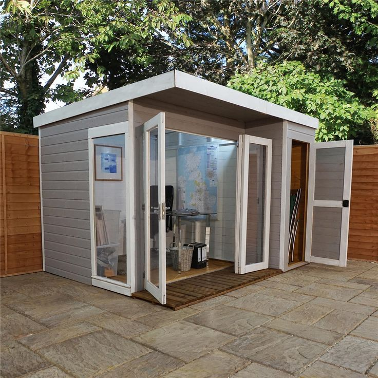 cheap affordable wooden sheds, 10ft x 8ft contemporary gardenroom large combi, free delivery
