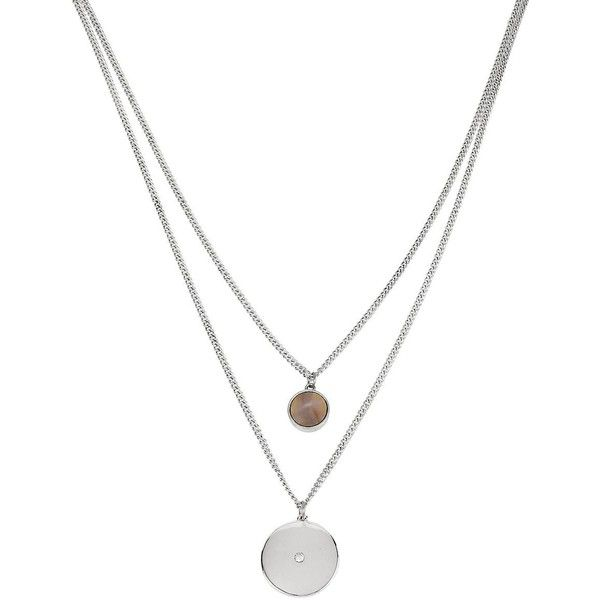 Kenneth Cole New York Summer Glow Shell and Disc Duo Pendant Necklace found on Polyvore